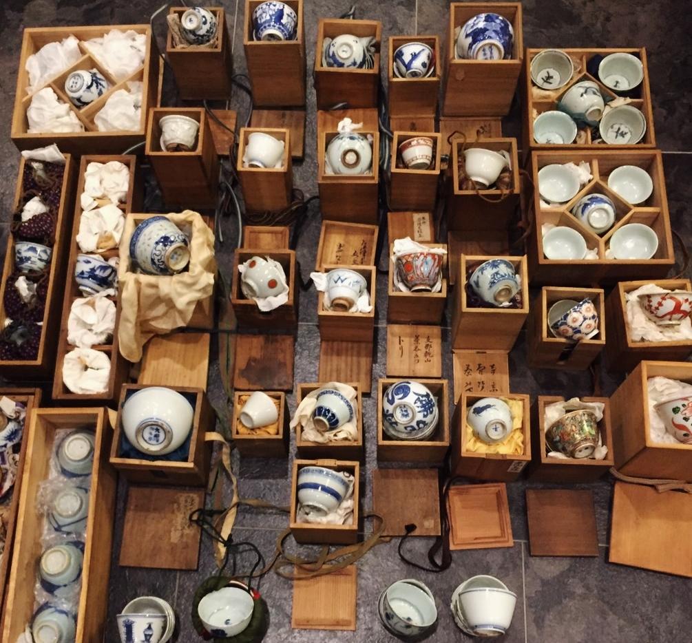 愛媛県松山市にて煎茶道具・煎茶碗・急須などの出張買取をいたしました。