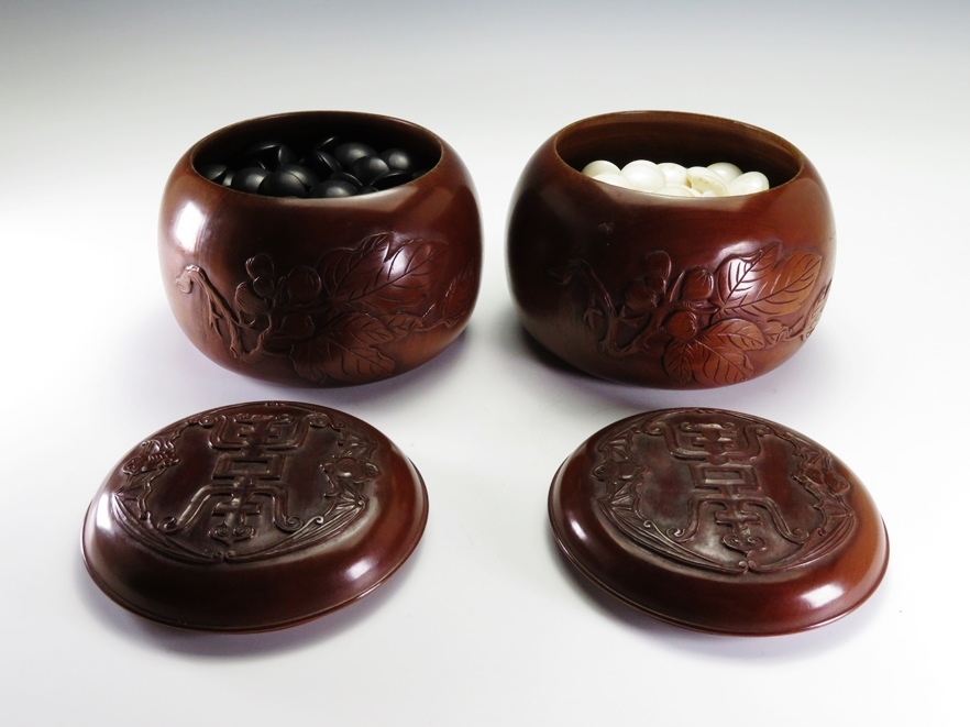 №306「仏手甘彫福寿 蛤石 碁石一式」