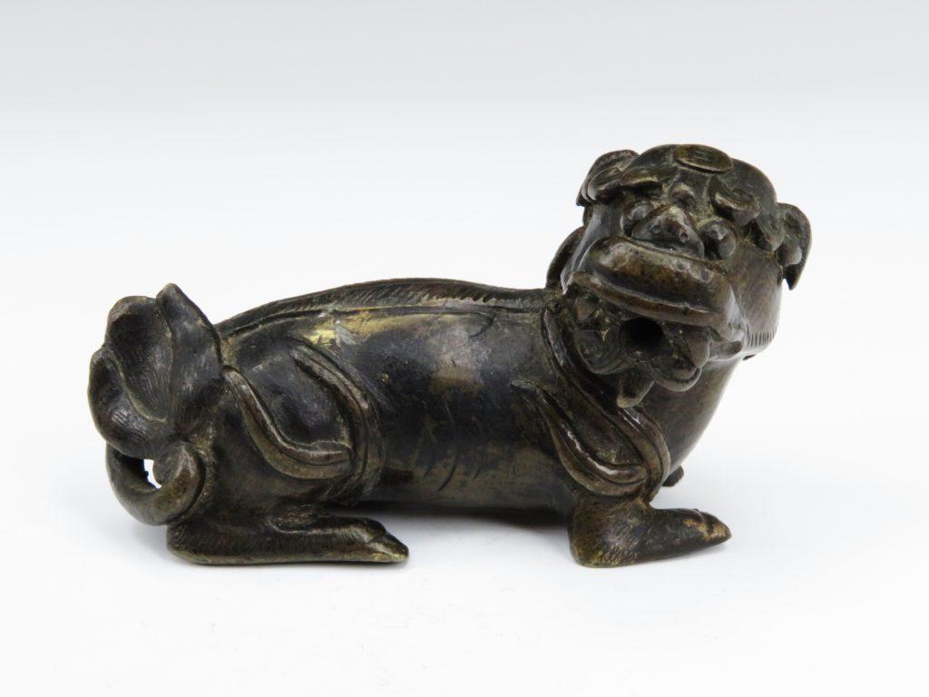 №299「中国 唐物 古銅獅子水滴」